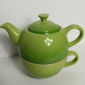 Le Creuset Stoneware Palm Green Tea For One 3 pc
